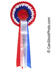 Champion rosette isolated - Rosette with the word Champion...