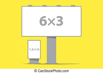 billboard board and citylight outdoor advertising vector...