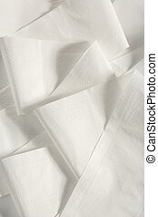 White toilet paper unrolled in the closeup