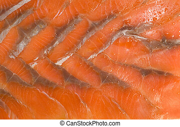 Sliced hunchback salmon background - Tasty background....