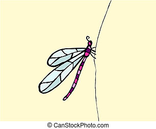 Dragonfly pattern vector - Illustration of dragonfly on...