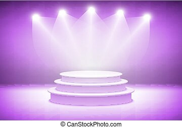 3d Pink stage light background theatrical background. scene and pink curtains. pink podium on a background of pink drape curtains. vector