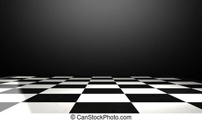 Put the rock on a chessboard - Put the chess piece on a...