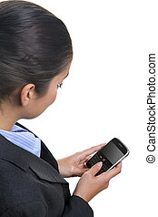 Businesswoman using a mobile device - Businesswoman using a...