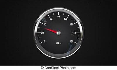 Indicated point of MPH gauge.