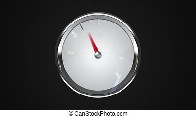 Indicated 3 oclock point gauge or watch animation