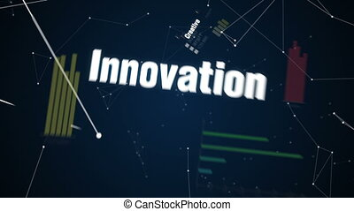 text animation FUTURE - Creative, Innovation, Intelligence,...