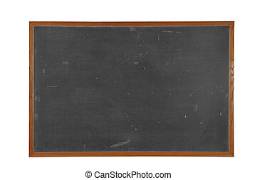 Blackboard - Blank vintage Blackboard with wood frame...