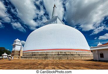 Ruwanweliseya Dagoba. Anuradhapura, Sri Lanka -...