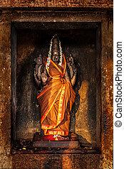 Durga image in Hindu temple - Hindu goddess Durga...