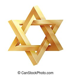 Judaism star Seal of Solomon vector icon David star, jewish...