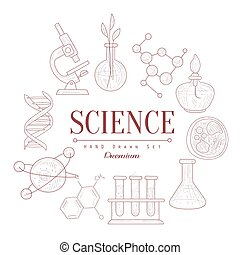 Science Vintage Sketch - Science Vintage Vector Hand Drawn...
