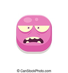 Sceptic Monster Square Icon Isolated On White Background In...