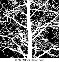 Shape of Tree without Leaves Vector Illustration and...