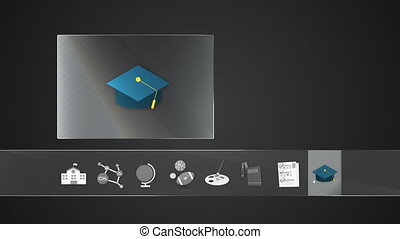 Graduate icon for Educationcontents - Digital display...