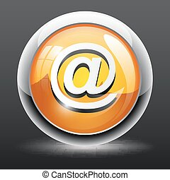 email button icon isolated on white