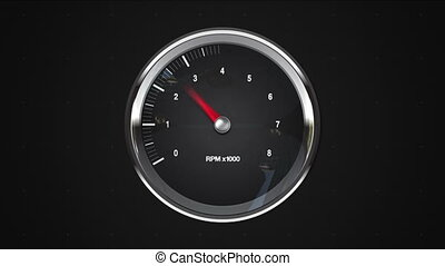 Indicated 3 point of RPM gauge animationincluded alpha