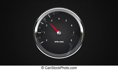 Indicated 7 point of RPM gauge. animation.(included alpha)
