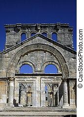 MIDDLE EAST SYRIA ALEPPO DEIR SAMAAN ST SIMEON - the ruins...