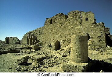 MIDDLE EAST SYRIA ABU KAMAL DURA EUROPOS RUINS - the ruins...