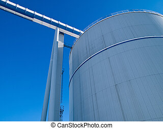 Factory plant industry background image