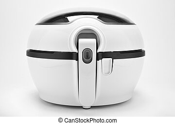 white multicooker - closeup of a white multicooker on a...