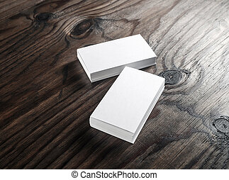 Photo of blank business cards - Photo of blank white...