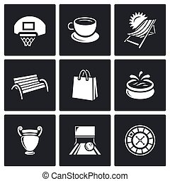 Vector Set of Recreation and Entertainment Icons. Sport,...