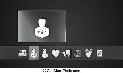 Diagnosis icon for Health Care - Technology medical care...