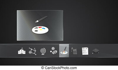 Art icon for Education contents - Digital display...