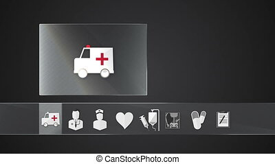 Ambulance icon for Health Care - Technology medical care...