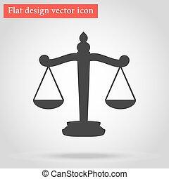 Flat design vector Scales icon