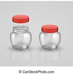 Glass Jars for canning and preserving With cover , without...