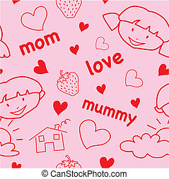 Mother\'s day seamless pattern