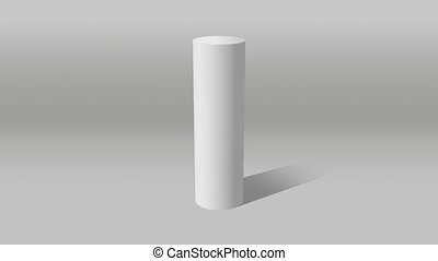white cylinder diagram indicate 10% - Growing 3D Cylinder...