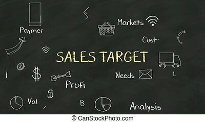 Handwriting concept 'SALES TARGET' - Handwriting concept of...