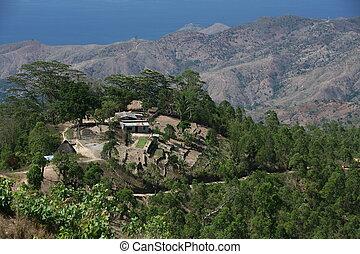 ASIA EAST TIMOR TIMOR LESTE VILLAGE LANDSCAPE - a vilage in...