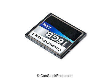 memory card -  memory card on white background