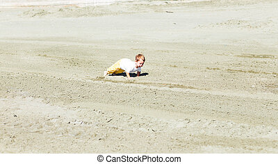 Beauty smiling sport child boy press up exercising.