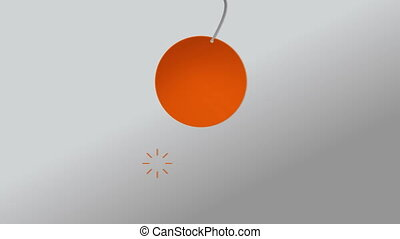 Falling one circle animation. - circle animation,...