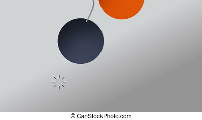 Falling two circle animation. - circle animation,...