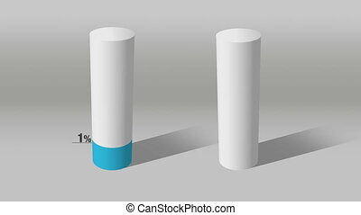 white cylinder indicate 60 and 10 - Growing 3D Cylinder...
