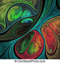 Caótico, fractal, Composição,
