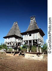 ASIA EAST TIMOR TIMOR LESTE LOSPALOS HOUSE - a traditional...