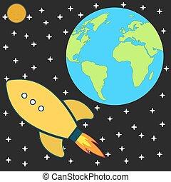 cosmos explore space rocket