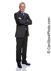 Mature businessman portrait - Full length shot of a mature...