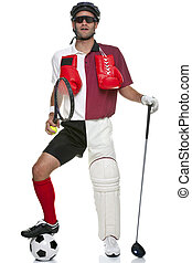 All round Sportsman - Concept image of a sportsman wearing...