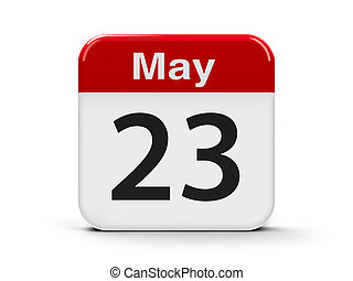 23rd May - Calendar web button - The Twenty Third of May -...