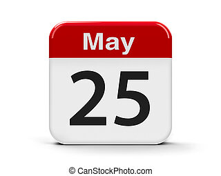 25th May - Calendar web button - The Twenty Fifth of May -...