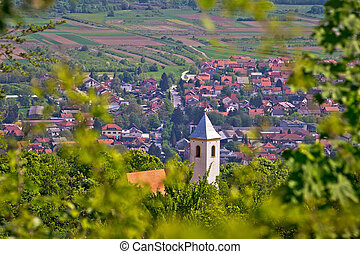 Church on the hill above Samobor, town in northern Croatia